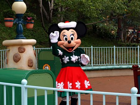 Minnie Mouse at Christmas