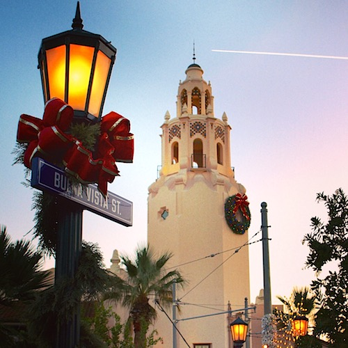 Buena Vista Street for the holidays