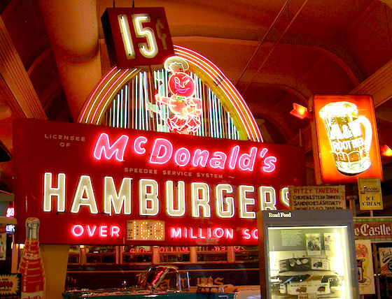Original McDonald's sign