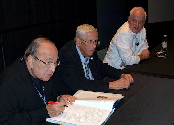 Marty Sklar, Bob Gurr, and Tom Fitzgerald