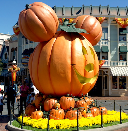 Mickey pumpkins at Disneyland