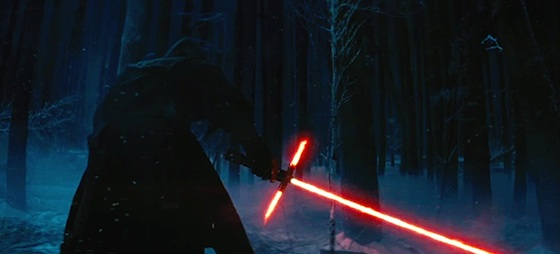 Lightsaber from the Star Wars 7 trailer