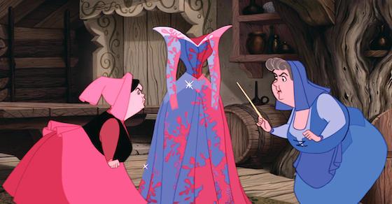 Sleeping Beauty's dress