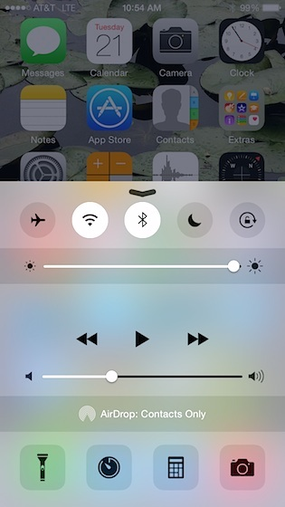 Lock Screen Control Center