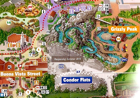 Disney is Changing California Adventure's Condor Flats into Grizzly on