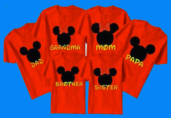 Disney family vacation shirts