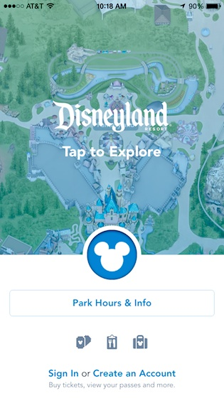 New Disneyland app
