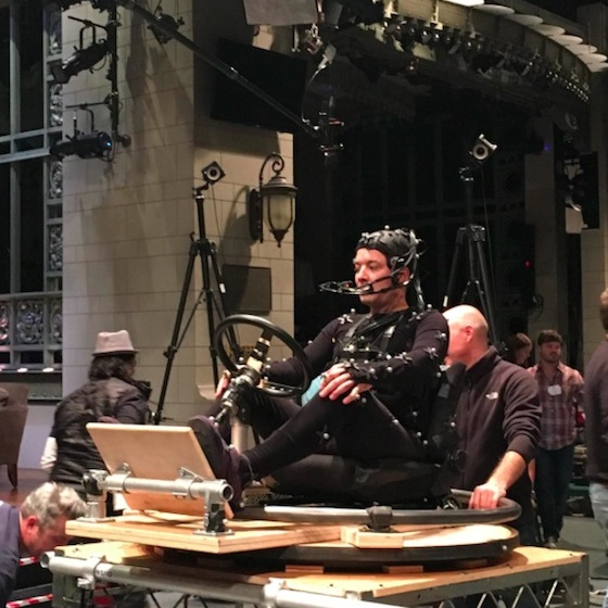 Jimmy Fallon on set