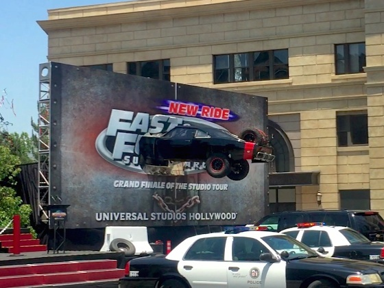 Crashing through the billboard