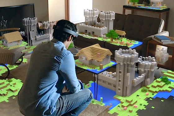 Minecraft with Microsoft HoloLens