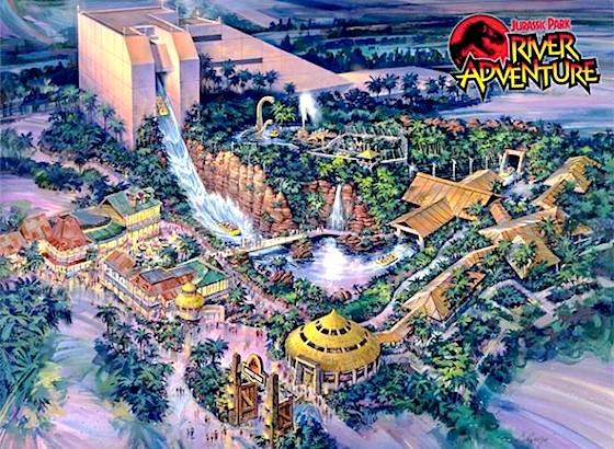 Original Jurassic Park ride concept art
