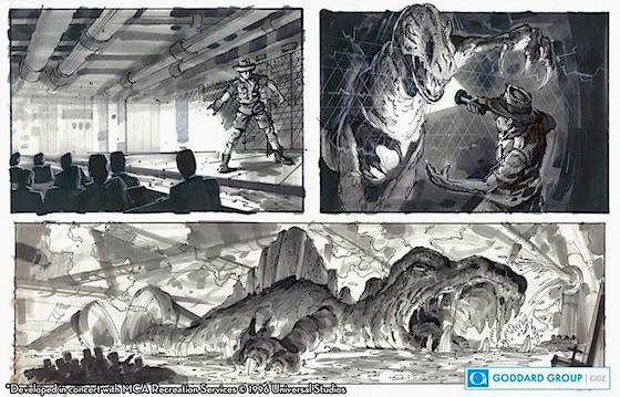 Original Jurassic Park storyboards