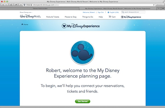 My Disney Experience Website