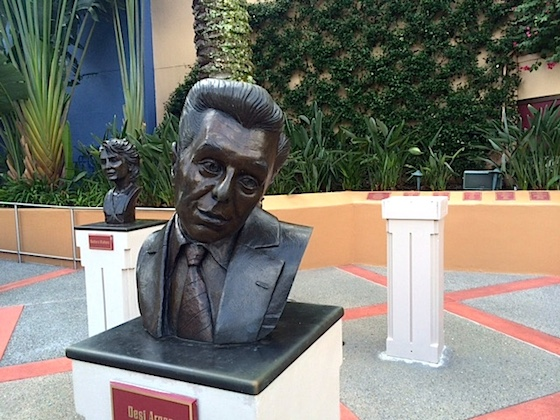 Missing bust at the Academy of Television Arts and Sciences Hall of Fame Plaza