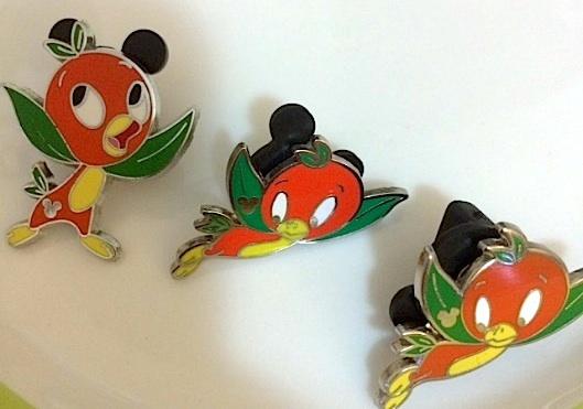 Orange Bird pins