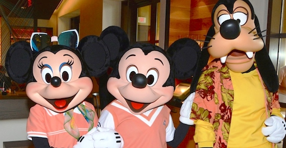 Minnie, Mickey, Goofy