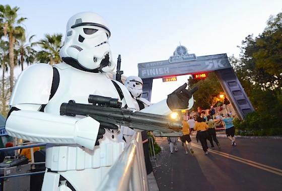 Stormtroopers at the Star Wars runDisney event