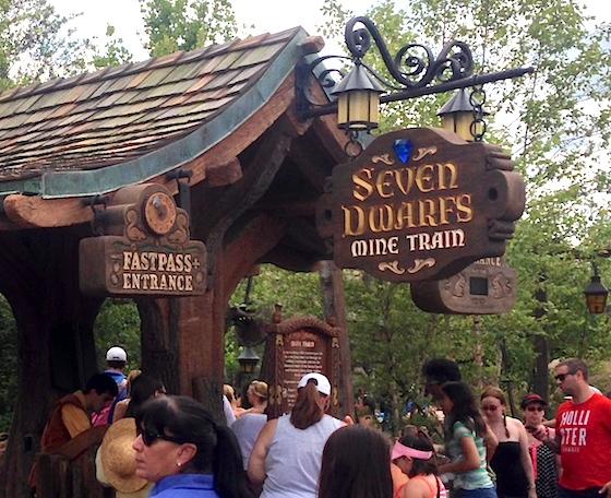 Fastpass+ return at the Seven Dwarfs Mine Train