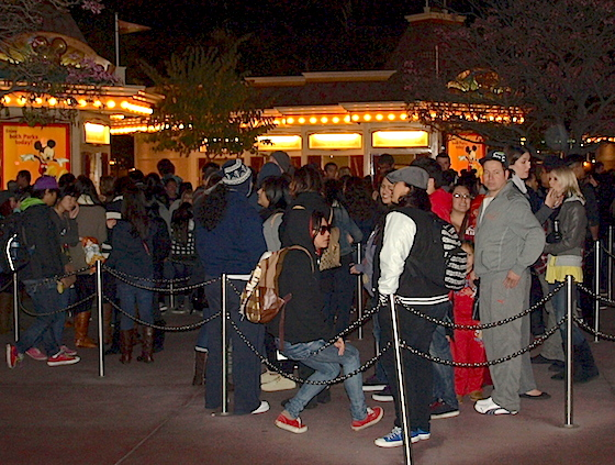 Ticket booth crowd