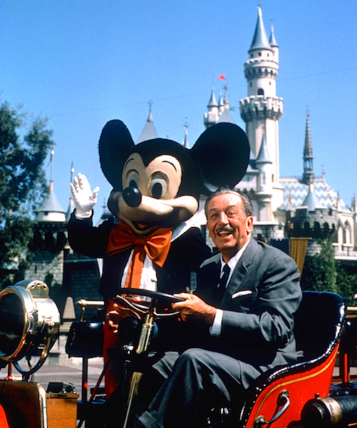 Walt Disney in Disneyland in 1966