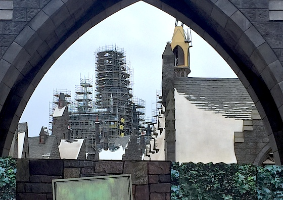 The Wizarding World of Harry Potter, under construction at Universal Studios Hollywood