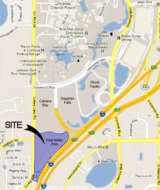 New Universal Orlando water park location