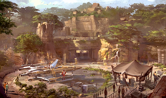 Star Wars Land Concept Art 1