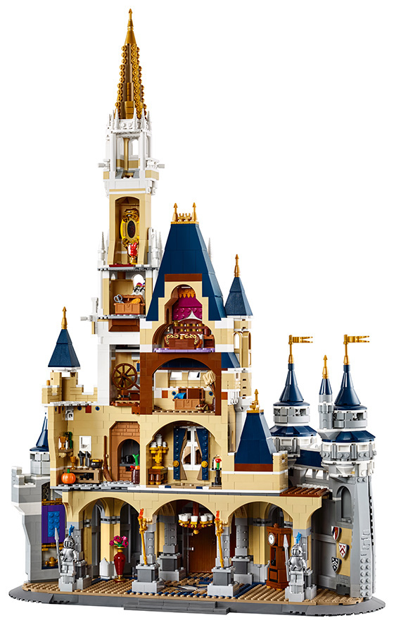 Rear of Lego Disney castle