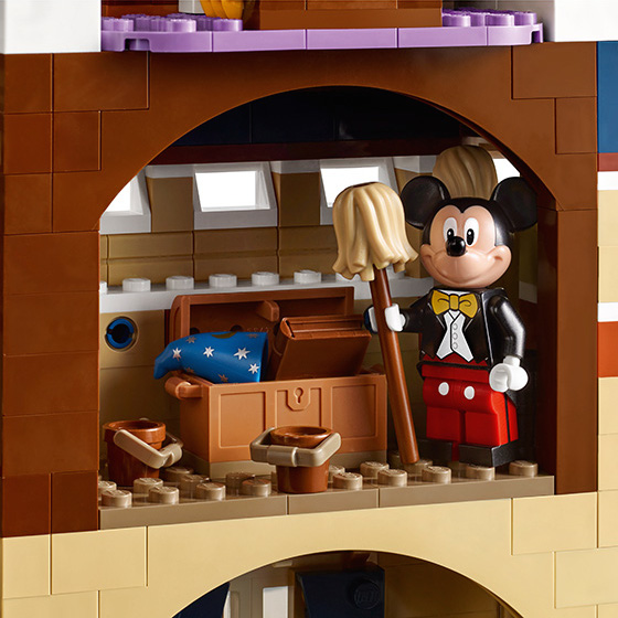 Lego Disney castle detail