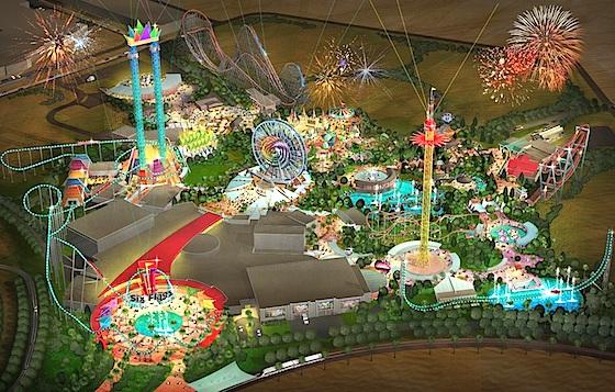 Six Flags Dubai concept art