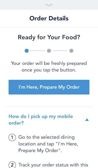 I'm Here, Prepare My Order