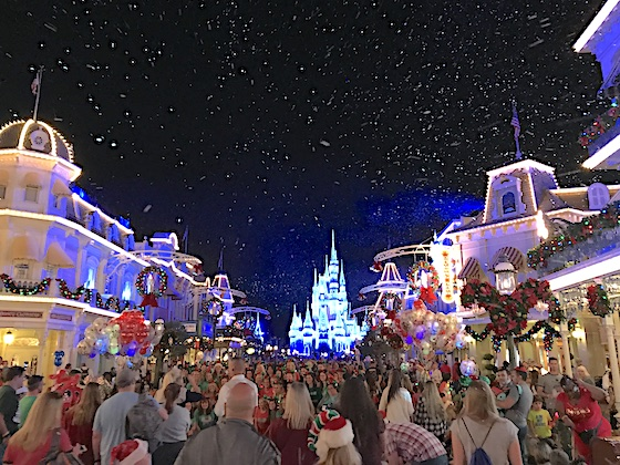Snow on Main Street USA