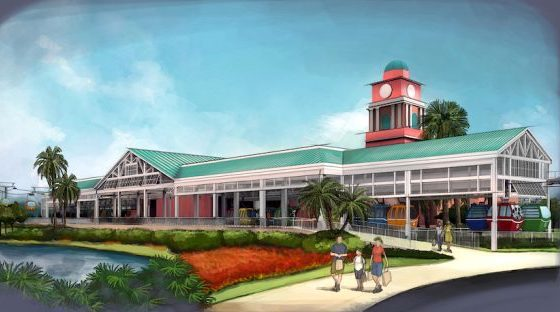 Caribbean Beach Disney Skyliner station