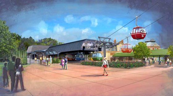 Epcot Disney Skyliner station