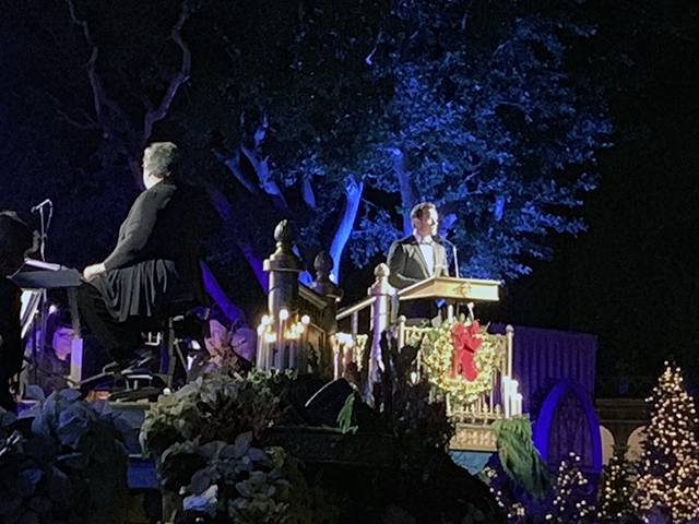 Chris Pratt at Disneyland's Candlelight