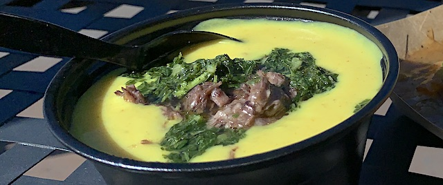 Curry Cauliflower Soup with Braised Lamb