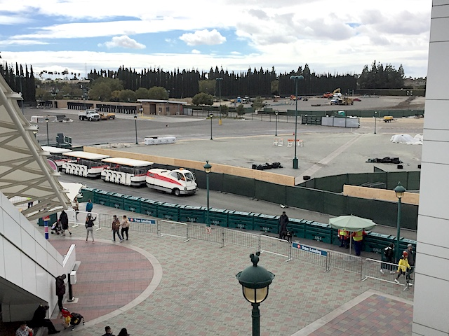 New tram loading at Disneyland