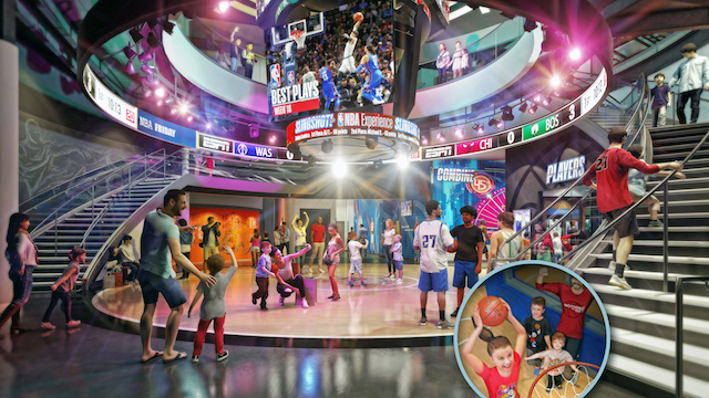Interior of the NBA Experience