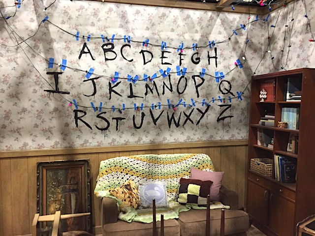 Alphabet wall in the Byers house