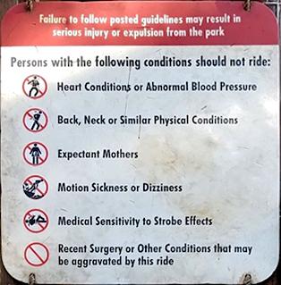 Kong ride warnings