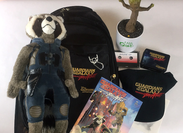 Guardians of the Galaxy Mission Breakout swag