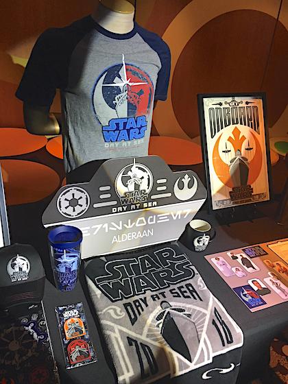 Star Wars Day at Sea merchandise