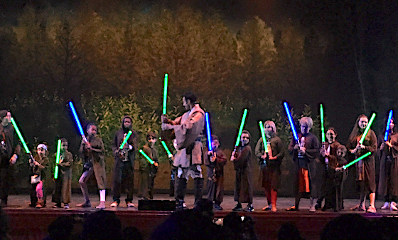 Kids with lightsabers