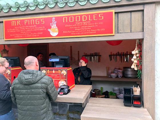 Noodle shop window