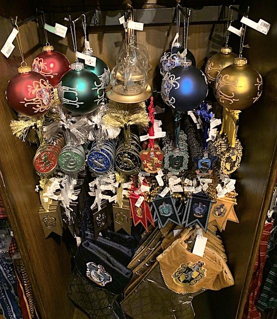 Holiday ornaments at Universal Studios Hollywood