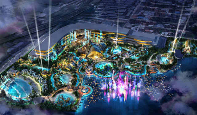 WhiteWater/Cirque park at night
