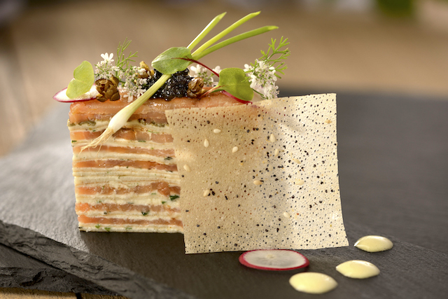 Smoked Salmon and Cream Gateau