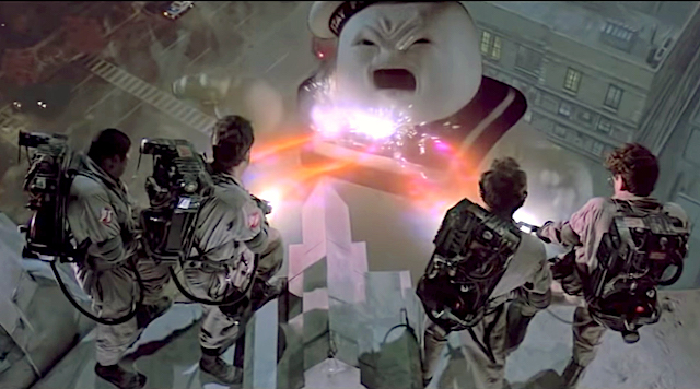 Stay Puft v the Ghostbusters