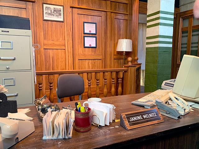 Janine Melnitz' desk