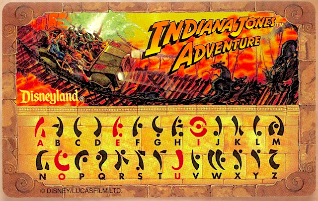 Indiana Jones Adventure translation card